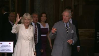 <p>Prince Charles and the Duchess of Cornwall approach the crowd of admirers gathered at Sydney's Martin Place. (9NEWS)</p><p><strong>Click through to see more pictures from their tour through Australian and New Zealand.</strong></p>