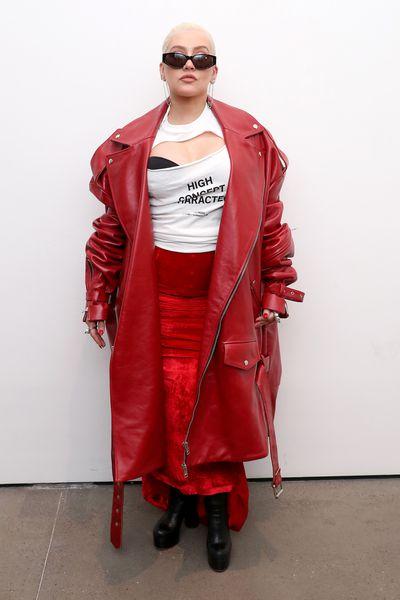 Christina Aguilera at the Christian Cowan Show during New York Fashion Week, September 8, 2018 i