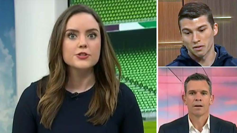 "Melbourne Victory's Mitch Austin walks out of ABC TV interview after ""panic attack"""