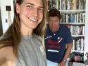 Richard Wilkins with son Christian Wilkins