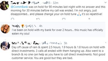 Frustrated customers vent their anger on Twitter, after being kept on hold by companies.
