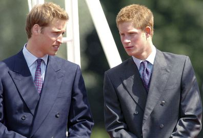 The brothers at the opening of a fountain built in memory of Diana in London's Hyde Park in 2004.
