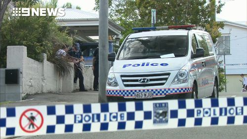 A man was shot outside his home in Brisbane this morning. (9NEWS)