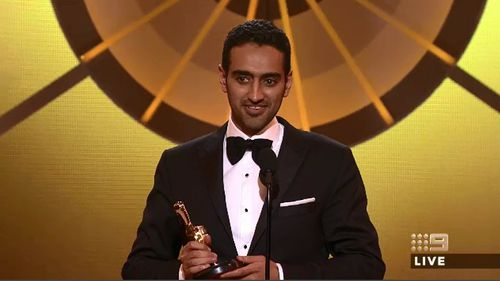 Waleed Aly accepts his Gold Logie.