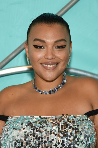 Paloma Elsesser attends the Tiffany Blue Book Collection launch at Studio 525 on October 9, 2018 in New York City.