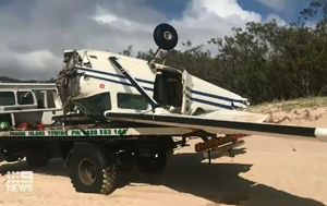 Two men miraculously survive plane crash off Fraser Island