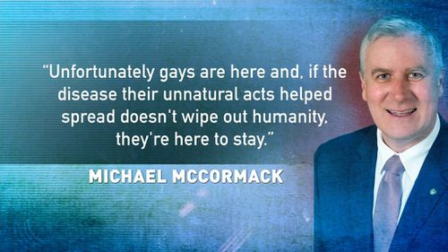 The comments made in a column by Small Business Minister Michael McCormack. (TODAY)