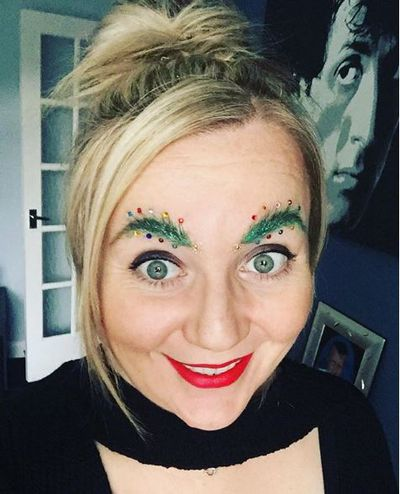 Christmas Tree Eyebrows.Christmas Tree Eyebrows Are Officially Back