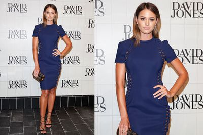 Jesinta wore a stylish Dion Lee mini with peep-through cut-outs, giving a commando look.