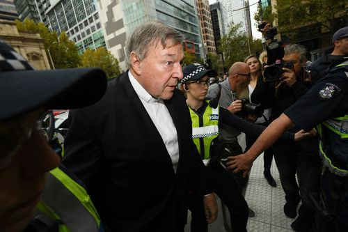 Cardinal George Pell appeared at a directions hearing in the Country Court today. (AAP)