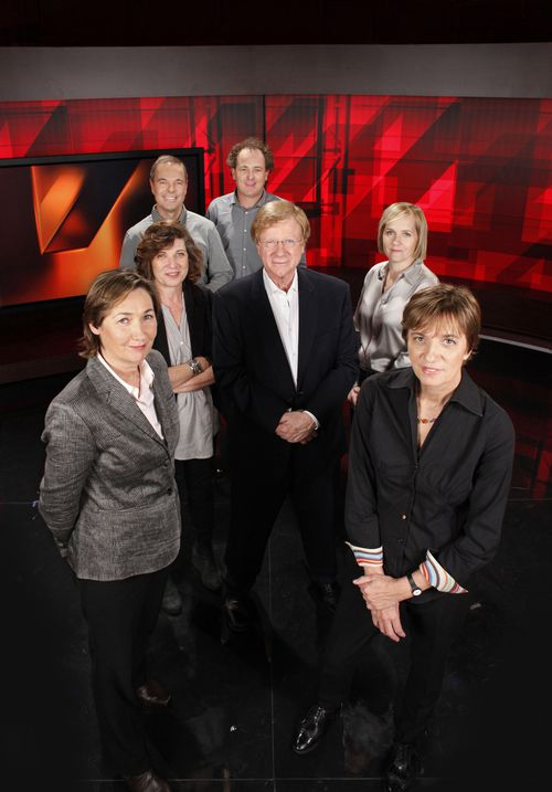 Jackson, pictured wit her Four Corners colleagues in 2011. Picture: AAP