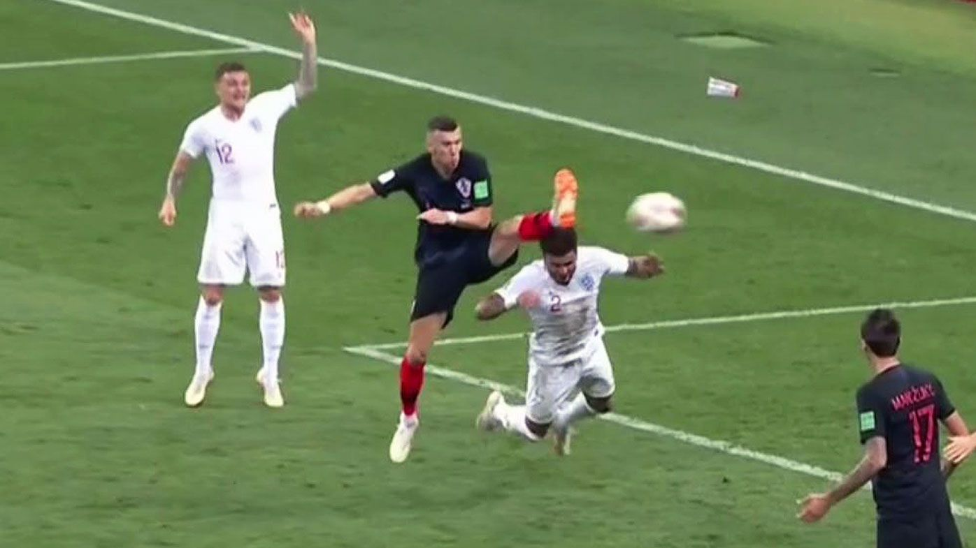 World Cup 2018: Referee called into question after contentious high-foot goal stands against England