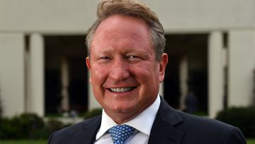 West Australia 2017 Australian of the Year finalist Andrew 'Twiggy' Forrest poses for a portrait at a reception at Government House in Canberra. (AAP)