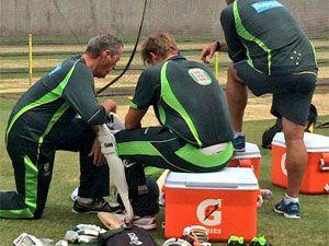 Watson hit in head at Aussie training