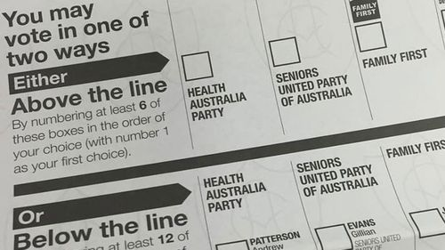 Health Australia Party's prime position draws ire of medical bodies