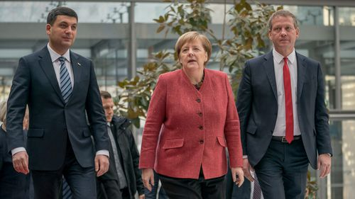 German Chancellor Angela Merkel confirmed she plans to press Russian President Vladimir Putin at this weekend's G20 summit about his country's seizure of three Ukrainian ships and their crews.