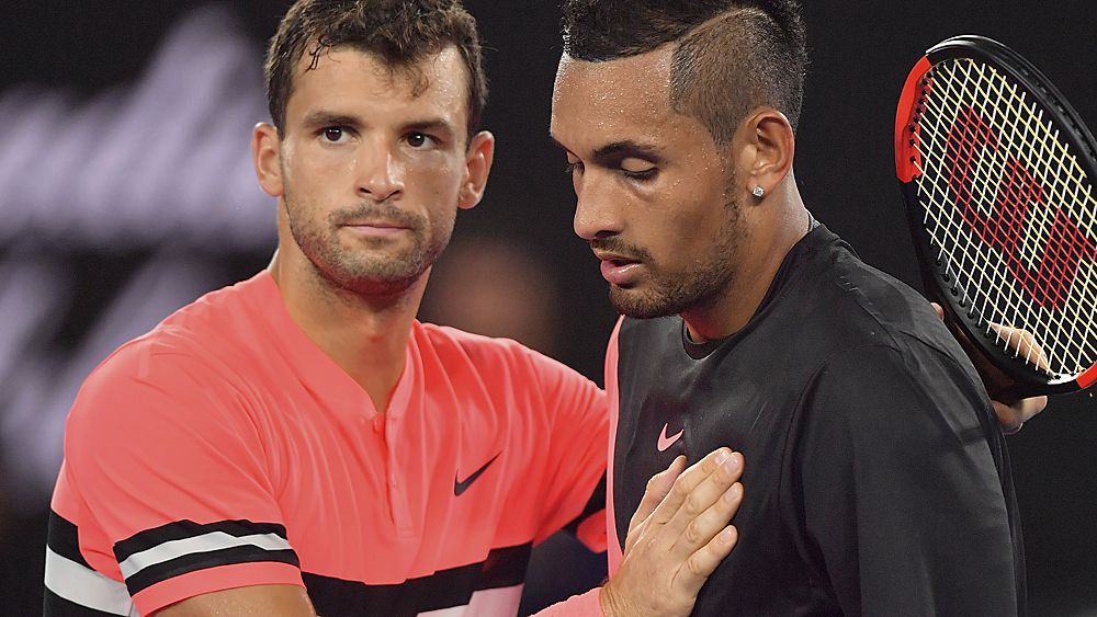 Australian Open 2018 day seven wrap: Nick Kyrgios defeated by Grigor Dimitrov, Caroline Wozniacki cruises