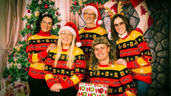 Vegemite Christmas in July sweater