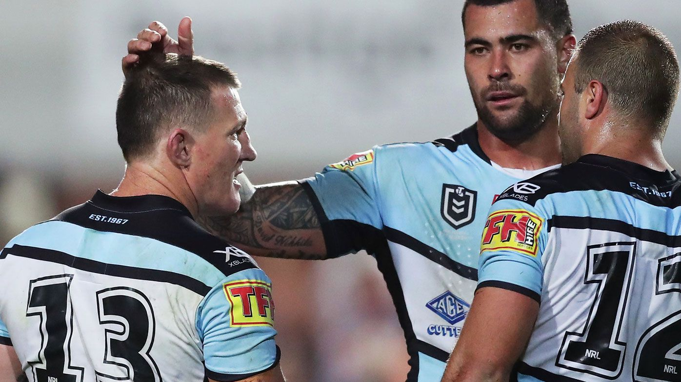 Paul Gallen and Andrew Fifita. (Getty)