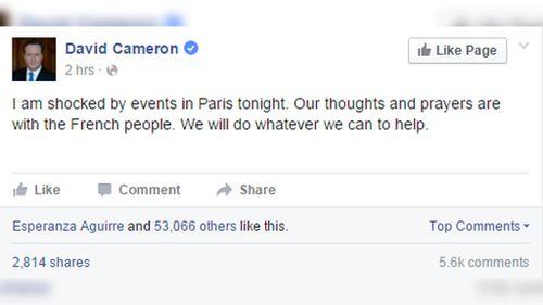 UK Prime Minister David Cameron. (Facebook/David Cameron)