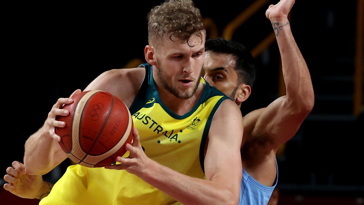 Joack Landale stars for the Boomers.