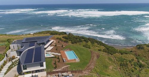 The property took five years to build, with its clifftop location proving a challenge.