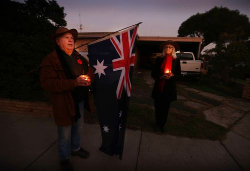 Last year, people paid their respects in their driveways after Anzac Day services were cancelled.