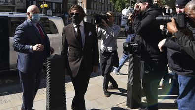 Johnny Depp arrives at the High Court in London, Friday July 10, 2020