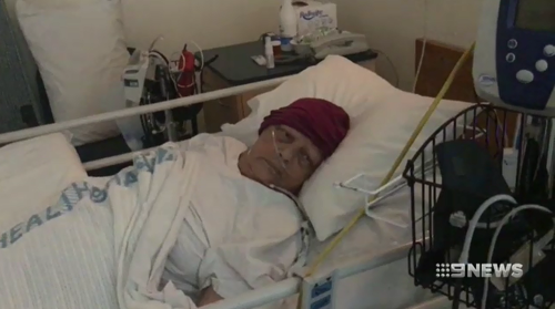 Perth grandmother Rhonda Luplau is stranded in Sydney after collapsing during a holiday.