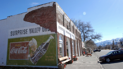 Rural Modoc County in the far northeastern part of Northern California plans to reopen schools, hair salons, churches, restaurants and the countys only movie theater on Friday, May 1, 2020. It would be the first in California to ease out of stay-home orders mandated by Gov. Gavin Newsom. (AP Photo/Jeff Barnard, File)