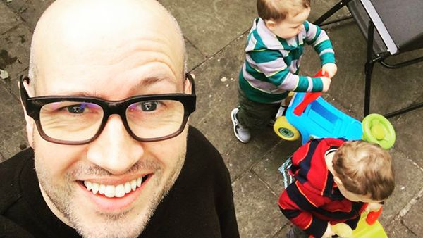 Funny guy: Sam Avery's popular commentary about parenting is being turned into a book. Image: Facebook/samaverylearnerparent