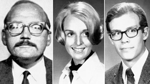 Victims of Zodiac killer: San Francisco cab driver Paul Stine; Cecilia Shepard, 22; and Bryan Hartnell, 20, who was stabbed but lived.