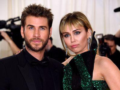 Miley Cyrus, Liam Hemsworth, Metropolitan Museum of Art Costume Institute Benefit Gala, 2019, New York, USA