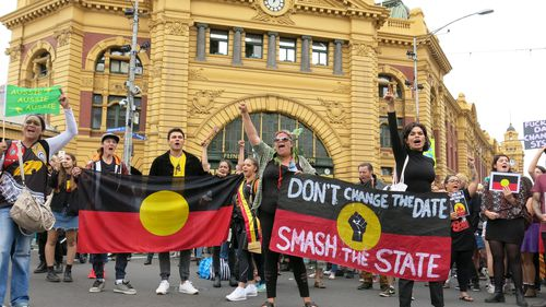 Protesters in Melbourne. (AAP)