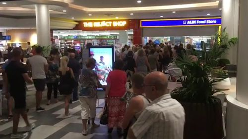 Photos and video posted to social media this morning show shoppers queuing and flocking to the store to snap up the discounted items. (Instagram/squirrelsquirrelson)