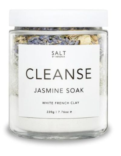 "<p><a href=""https://saltbyhendrix.com/collections/bath-soaks/products/cleanse-jasmine"" target=""_blank"" draggable=""false"">Salt by Hendrox Cleanse Jasmine Soak, $24.95</a><br> <br> What better way to unwind on a long weekend than by stepping into a hot, soaking bathtub.</p> <p>Add two tablespoons of this luxurious and detoxifying bath soak that will give the skin a gentle cleanse and sit back, relax and enjoy. </p> <p>Alternatively, mix the ingredients, scoop a tablespoon into your palms, add some water and make into a scrub. You can thank us later.</p>"