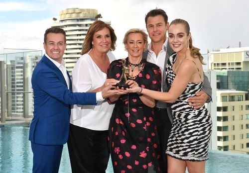 Gold Logie nominees Grant Denyer, Tracy Grimshaw, Amanda Keller, Rodger Corser and Jessica Marais. Picture: AAP