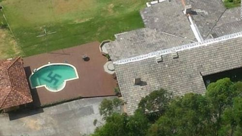 Giant swastika spotted in Brazil swimming pool
