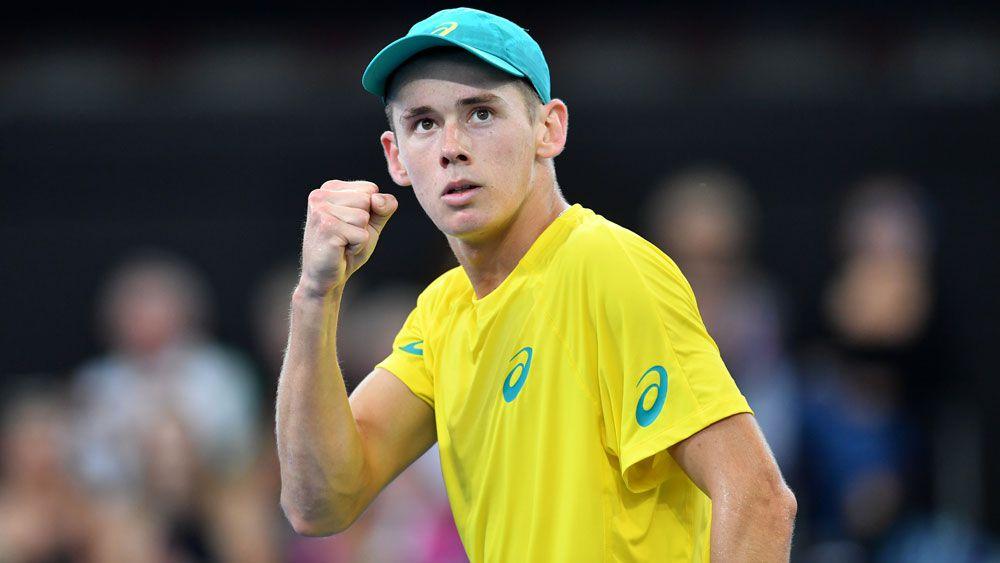 Australian Davis Cup captain Lleyton Hewitt hopeful teenager Alex de Minaur fit for crunch singles rubber