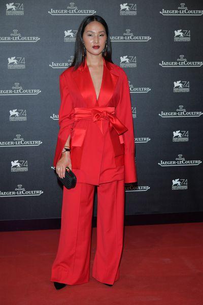 Australian blogger Nicole Warneat the Venice Film Festival, 2017.