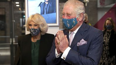 Prince Charles and Camilla, Duchess of Cornwall arrive to visit the Soho Theatre in London