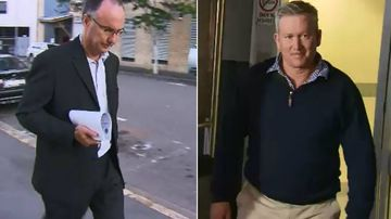 John Norman (right) faced court today with his chief financial officer Stephen Evans (left).