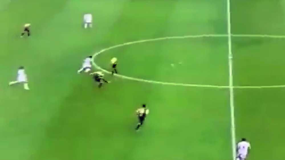 Football: Midfielder cracks home world's greatest volley