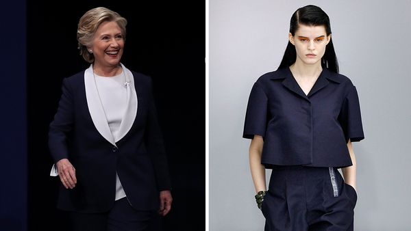 Hillary Clinton power suited for the Presidential debate and an on-trend designer option.