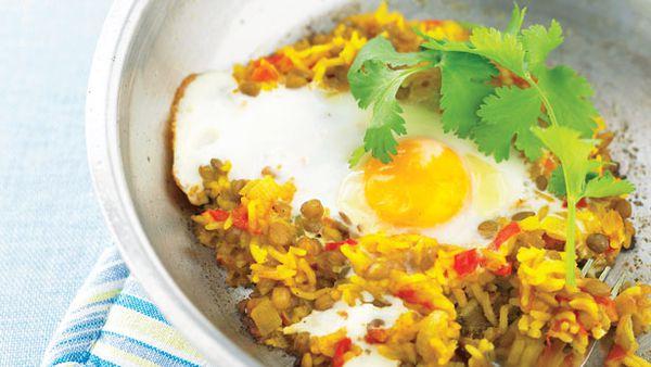 Rice and lentil pilaf