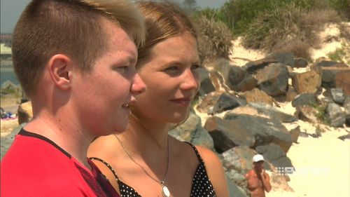 Lucas Kloosterhof, 14, and Aimee Carlin, 19, acted fast to bring the 19-year-old dairy farmer to safety. (9News)