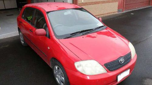 The car is thought to have driven around the Gatton business district from 3pm to 6pm on Friday evening. (Supplied)