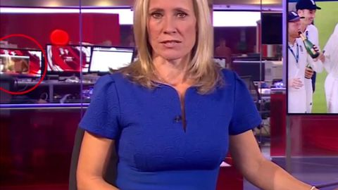 9RAW: Topless woman appears in live BBC news broadcast