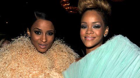 Rihanna and Ciara at last year's Grammys