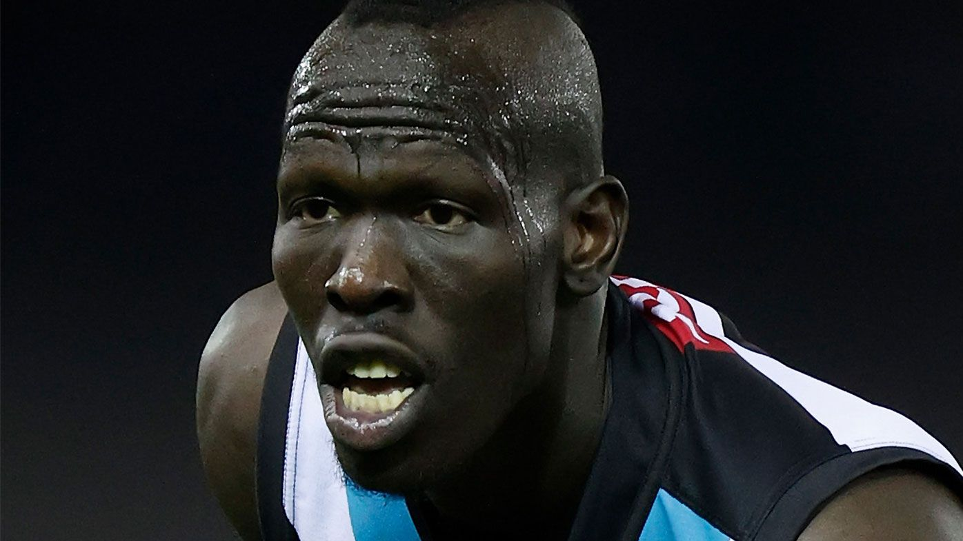 Port Adelaide's Aliir Aliir the latest AFL star to be subjected to 'abhorrent' racist attack online